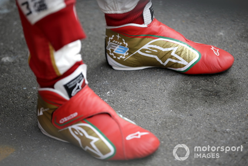 Shoes of Mick Schumacher, SJM Theodore Racing by PREMA