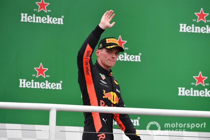 Max Verstappen, Red Bull Racing celebrates on the podium