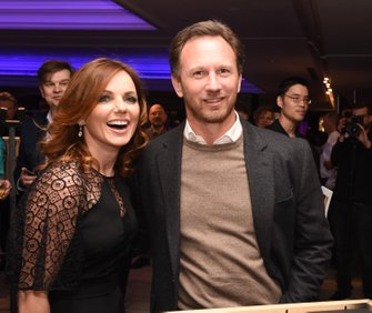 Geri Halliwell and Christian Horner, Red Bull Racing Team Principal