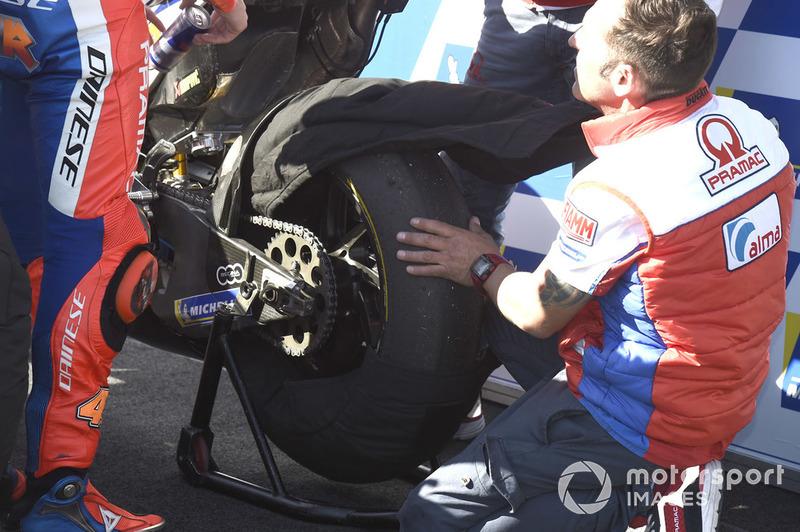 Шини на мотоциклі Джека Міллера, Pramac Racing