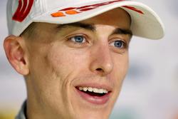 Jake Hughes, Hitech Grand Prix, Dallara F317 - Mercedes-Benz lors de la conférence de presse