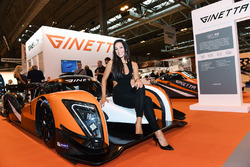 The Ginetta stand and lovely girls