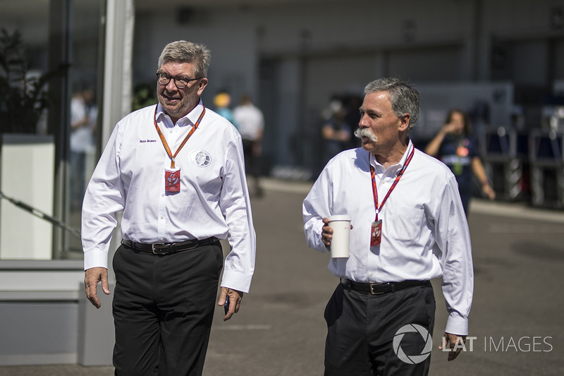 Ross Brawn, FOM ve Chase Carey, CEO, Formula One Group