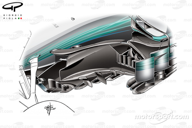 Mercedes W08 new bargeboard