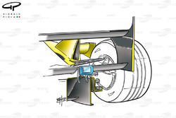 Jordan EJ11 diffuser and sidepod chimney detail