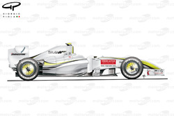 Brawn BGP 001 2009 Monza side view