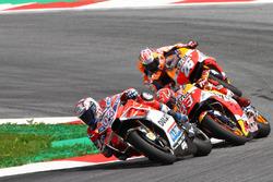 Andrea Dovizioso, Ducati Team, Marc Marquez, Repsol Honda Team, Dani Pedrosa, Repsol Honda Team