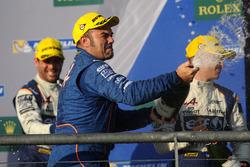 Podio LMP2: al secondo posto Mathias Beche, David Heinemeier Hansson, Nelson Piquet Jr., Vaillante Rebellion Racing