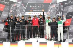Podio: los ganadores Stuart Leonard, Robin Frijns, segundos Markus Winkelhock, Will Stevens, terceros Andrea Caldarelli, Ezequiel Perez Companc