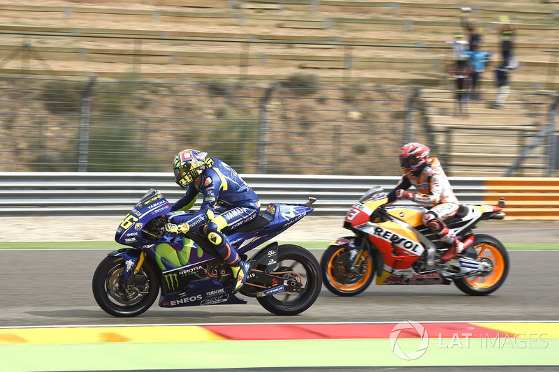 Валентино Россі, Yamaha Factory Racing, Марк Маркес, Repsol Honda Team