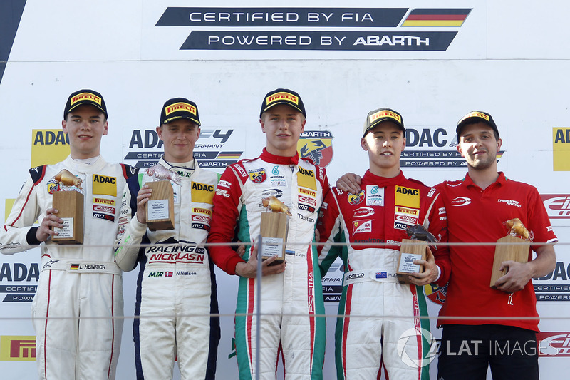 Podium: 1. Juri Vips, Prema Powerteam, 2. Nicklas Nielsen, US Racing, 3, Marcus Armstrong, Prema Pow
