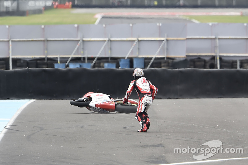 Sturz: Takaaki Nakagami, Idemitsu Honda Team Asia