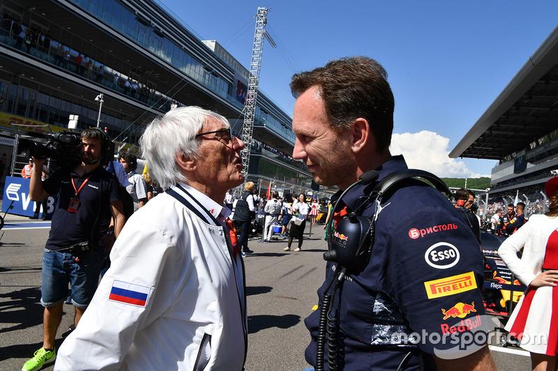 Bernie Ecclestone, Christian Horner, Red Bull Racing Team Principal