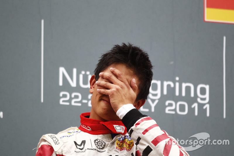 Podium: Pemenang balapan, Rio Haryanto