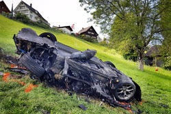 Згорівший після аварії Rimac Concept One, яким керував Річард Хаммонд