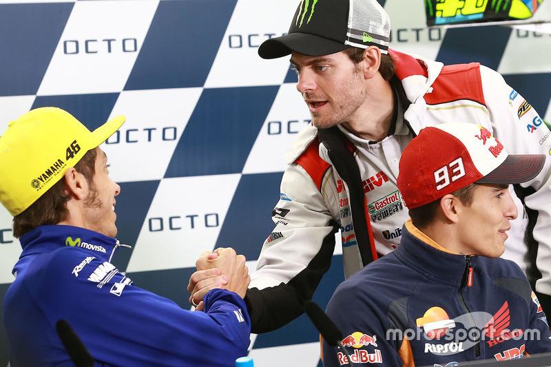 Valentino Rossi, Yamaha Factory Racing, Cal Crutchlow, Team LCR Honda, Marc Marquez, Repsol Honda Team
