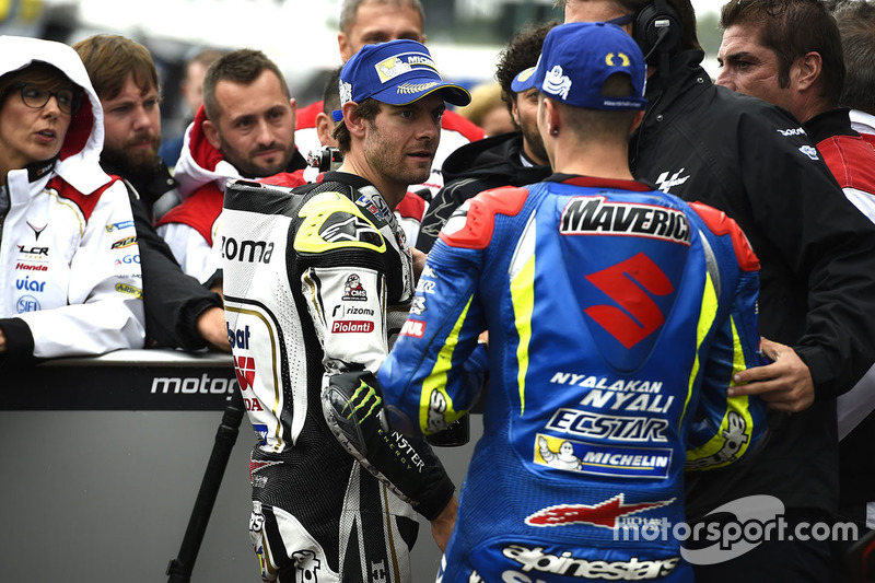 Poleman Cal Crutchlow, Team LCR Honda, terzo qualificato Maverick Viñales, Team Suzuki MotoGP