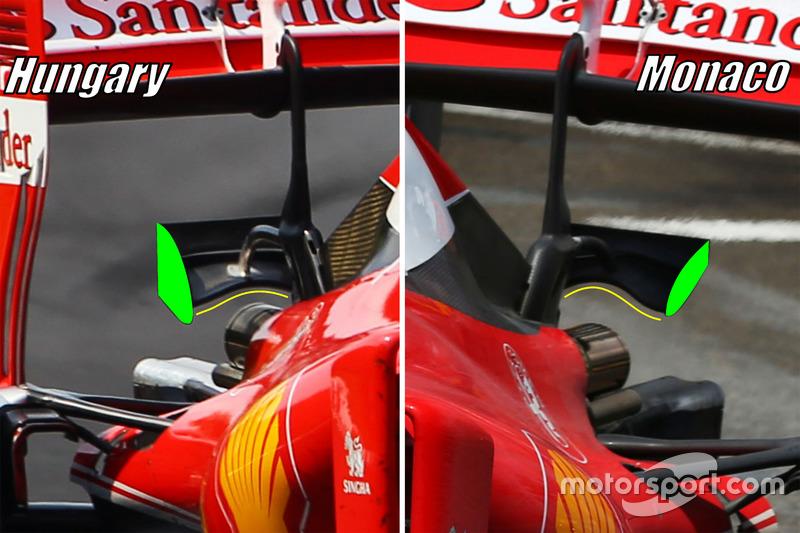 Ferrari SF16-H: Monkey-Seat, Vergleich