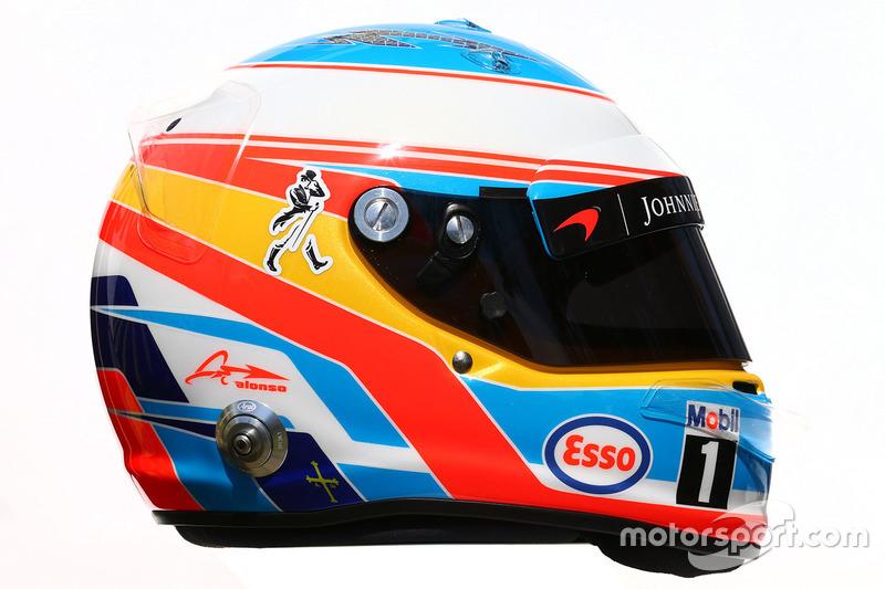Casco de Fernando Alonso en 2016