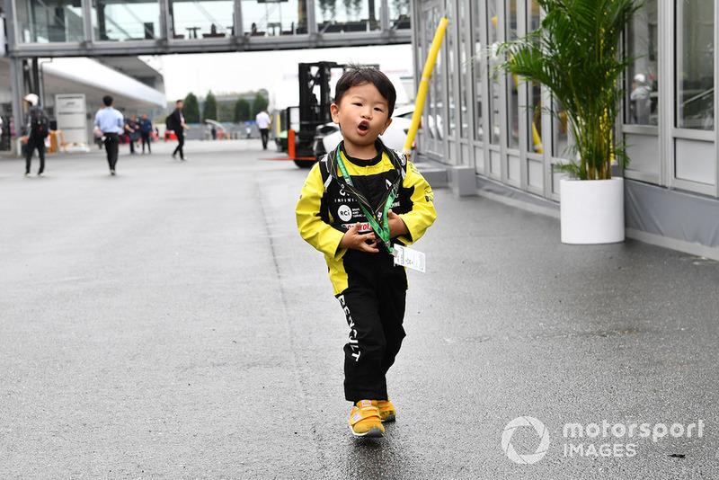 Un jeune fan de Renault