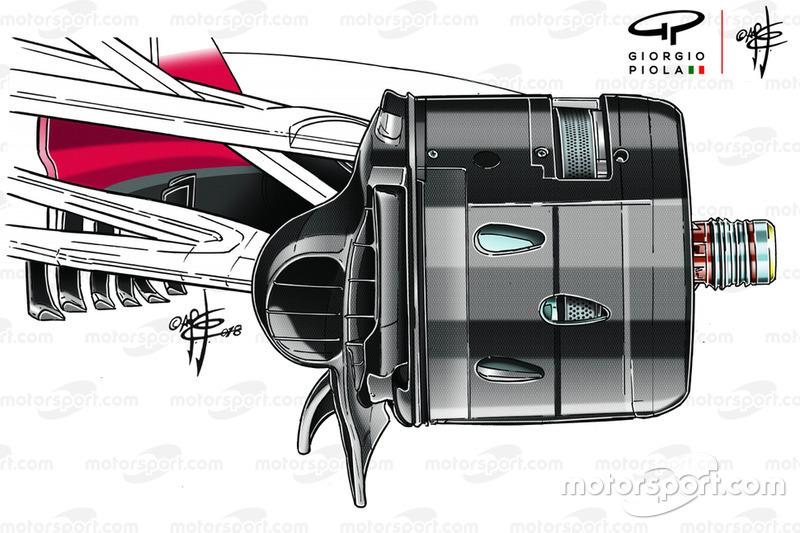 Ferrari SF71H, fékszellőzés