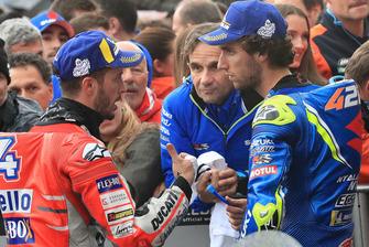 1. Andrea Dovizioso, Ducati Team, 2. Alex Rins, Team Suzuki MotoGP