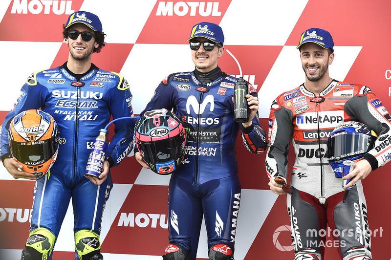 (Ki-ka): Alex Rins, Team Suzuki MotoGP, Maverick Viñales, Yamaha Factory Racing, Andrea Dovizioso, Ducati Team