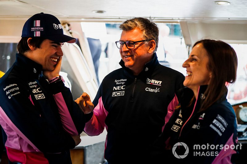 Lance Stroll, Racing Point and Otmar Szafnauer, team principal, Racing Point on the way to the Federation Square event