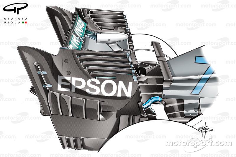 Mercedes W09 rear endplate, Singapore GP