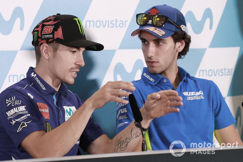 Maverick Viñales, Yamaha Factory Racing, Alex Rins, Team Suzuki MotoGP