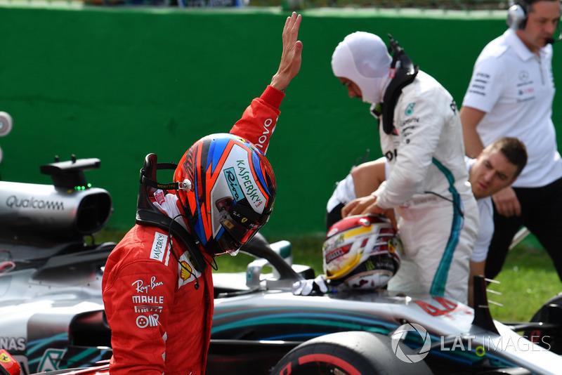 El poleman Kimi Raikkonen, Ferrari