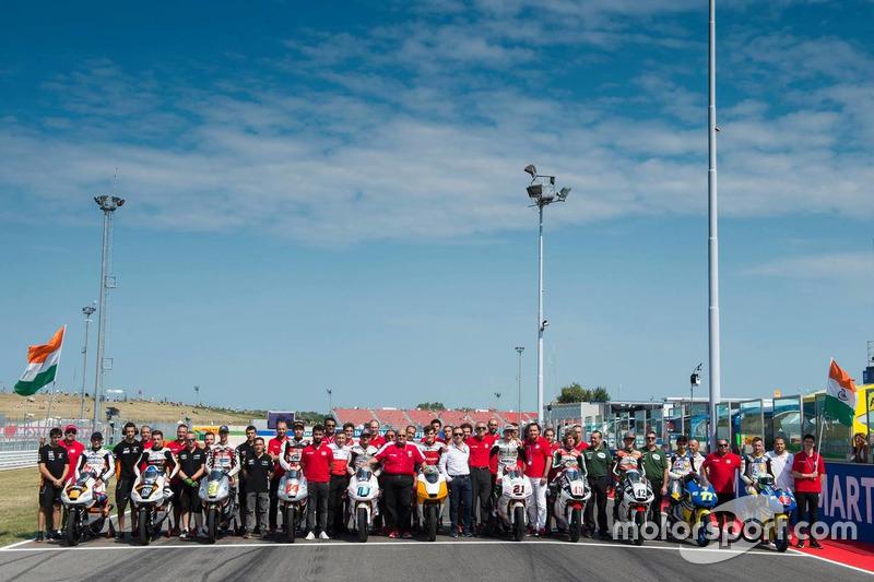 Il team Mahindra festeggia il 100esimo Grand Prix