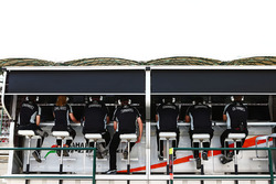 Sahara Force India F1 Team pitmuur