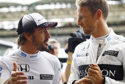 Fernando Alonso, McLaren and Jenson Button, McLaren