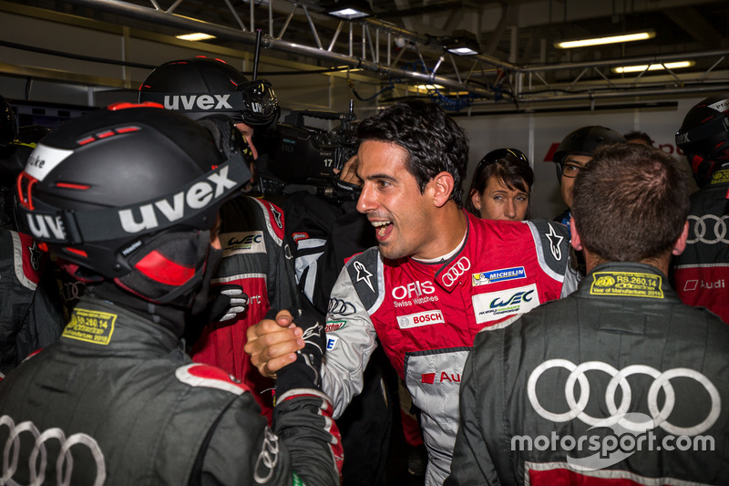 Pole per la #8 Audi Sport Team Joest Audi R18 e-tron quattro: Lucas di Grassi, Loic Duval, Oliver Jarvis