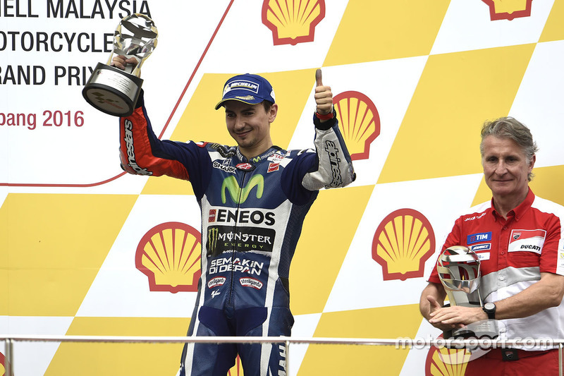 Podio: tercer lugar  Jorge Lorenzo, Yamaha Factory Racing