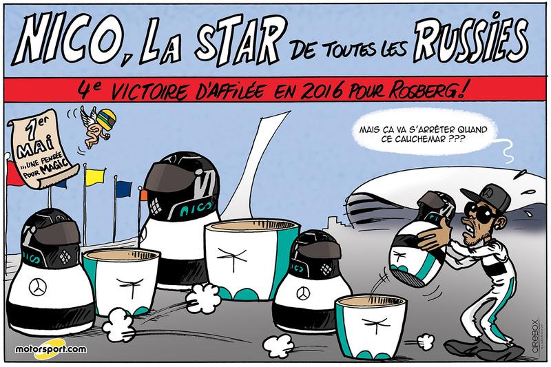 GP de Russie - Nico, la star de toutes les Russies