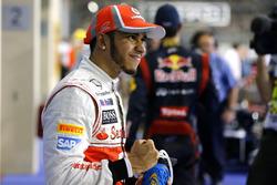 Lewis Hamilton, McLaren festeggia la pole