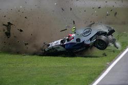 Авария: Роберт Кубица, BMW Sauber F1.07