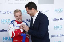 Felix Rosenqvist, Mahindra Racing,  recibe el premio Julius Bar Pole Position