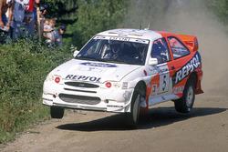 Carlos Sainz, Luis Moya, Ford Escort WRC