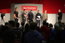 Gordon Shedden, Matt Neal, Andrew Jordan, Colin Turkington and Ashley Sutton talk to Henry Hope-Frost on the Autosport Stage