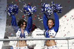 Dallas Cowboys Cheerleaders on the podium