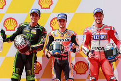 Polesitter Dani Pedrosa, Repsol Honda Team; 2. Johann Zarco, Monster Yamaha Tech 3; 3. Andrea Dovizioso, Ducati Team