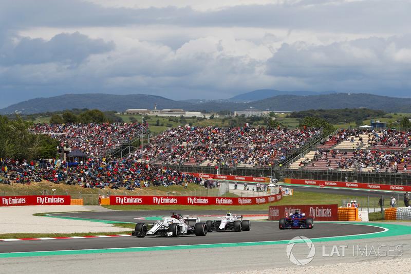 Marcus Ericsson, Sauber C37, Sergey Sirotkin, Williams FW41 e Brendon Hartley, Toro Rosso STR13