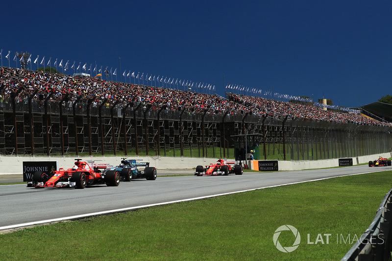 Sebastian Vettel, Ferrari SF70H startta lider