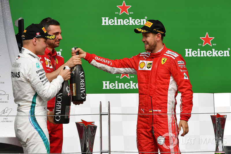 Valtteri Bottas, Mercedes-AMG F1, Sebastian Vettel, Ferrari