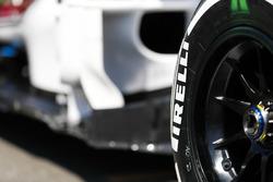 Pirelli tyre detail on a Sauber
