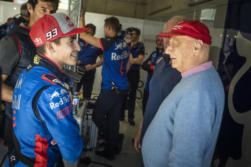 Marc Marquez en Niki Lauda