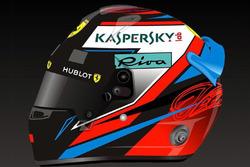 Helmet of Kimi Raikkonen, Ferrari